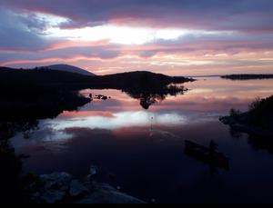 View from the bridge in Pontoon Co. Mayo, by Michael Dockery. 'Note the solitary fisherman in the foreground,' he says.
