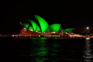 The Sydney Opera House (Australia) saw the beginning of Tourism Ireland's Global Greening initiative, when it was lit up in 2010 to celebrate the island of Ireland and St Patrick. Archive Pic – Fiora Sacco