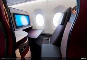 Business Class in Qatar Airways' A350-1000
