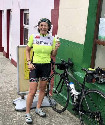 """""""I cycled up Glengesh pass in Donegal and it was murder!"""" says Sinead Kennedy."""" I was supposed to cycle the Stelvio in Italy that week but obviously that didn't happen.... I have cycled all over the world and Glengesh is as tough and as impressive as any of the grand tour climbs. My legs near buckled , I was hugging , puffing and swearing all at once and then I there!"""""""
