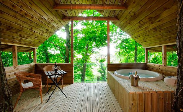 Treehouse 1 at Grove House. Photo: CottagesforCouples.ie