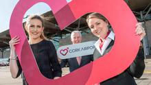 Pictured at the launch of Cork Airport's new brand identity in 2015 were: Robyn Chadwick, The Loop, Rachel Larkin, Communications Assistant and Niall MacCarthy, Managing Director at Cork Airport.