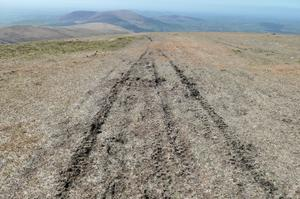 Quad bike tracks in Co Wicklow. Photo: Department of Culture, Heritage & The Gaeltacht