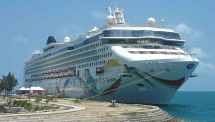 The Norwegian Dawn cruise ship docked in Bermuda. Photo: Deposit