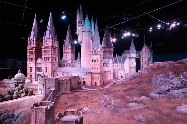 A 1:24 scale model of Hogwarts Castle at Warner Bros. Studio Tour London. Photo by Fred Duval/Getty Images