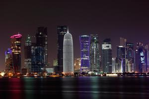 Doha skyline at night, Qatar. Photo: Deposit