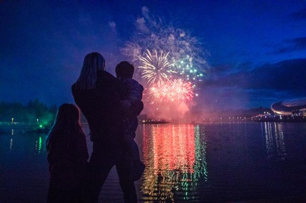 Guests enjoying the launch spectacular of Center Parcs Longford Forest. Photo: Naoise Culhane Photography