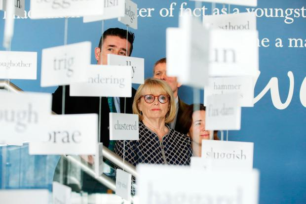 Marie Heaney, Catherine Heaney, Christopher Heaney and Michael Heaney  pictured at the opening of Seamus Heaney HomePlace Centre in Bellaghy. Photo by Kelvin Boyes / Press Eye.