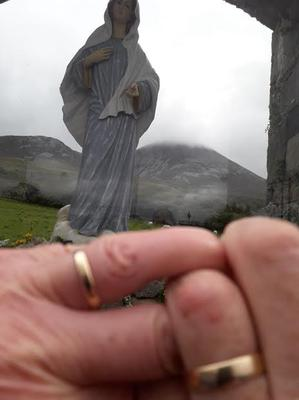 """Every year, Ger Warren and his wife make an annual trip to Croagh Patrick. """"This was our 40th year, but climbing was much different... no crowds and the usual crushing of stones and shuffling of people to the top was gapingly absent. The peace and tranquillity of the mountain was something to behold""""."""