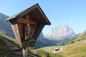 Crucifixes and shrines to the Virgin abound in South Tyrol