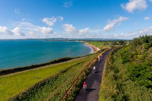 Cyclists on the Waterford Greenway