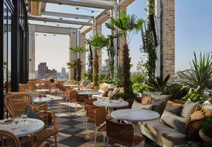 A rooftop terrace at The Seabird