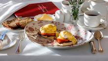 Breakfash muffin, with bacon, tomato, poached egg and a wholegrain mustard hollandaise prepared by Brian Heaton of Castlewood House, Dingle. Photo: Don MacMonagle.
