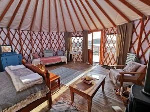 A luxurious yurt at Lough Mardal, Co Donegal