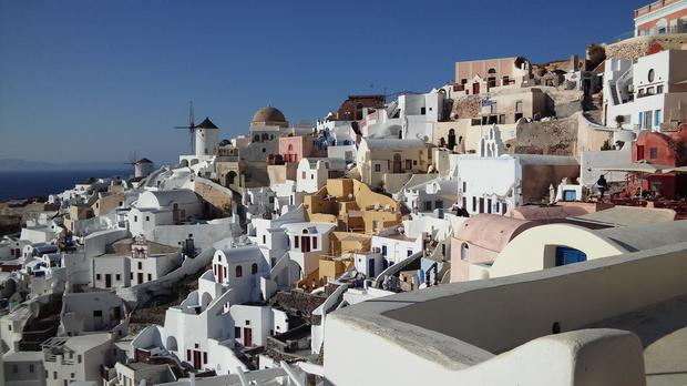 Santorini, by Mel Byrne. 'Looking at the photos gives me hope for when we can travel again!' she says.