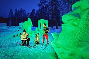 The Nallikari Snow Fest, and international snow sculpting event in Oulu, Finland, joins Tourism Ireland's Global Greening initiative, to celebrate the island of Ireland and St Patrick. Pic – Mikko Törmänen