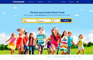 Ryanair Schools Travel website (preview)