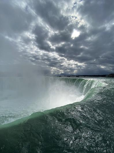 Claire O'Connell took this photo of Niagara Falls from the Canadian side. 'Standing beside it was a visceral thrill,' she says. 'It was also like meeting someone really famous from your youth...' Photo: Twitter / @claireoconnell
