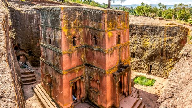 Ancient wonder: The monolithic church of St George