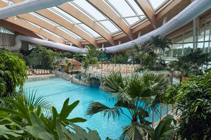 Inside the Subtropical Swimming Paradise at Center Parcs Longford Forest.