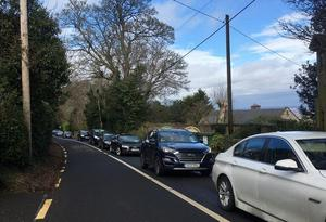 Traffic near popular Dublin Mountains sites this week. Please Credit: SaveTheHellfire.com