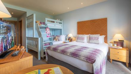 A family bunk room at Galway's Connacht Hotel
