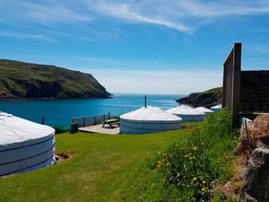 Yurts at Chléire Haven, Cape Clear