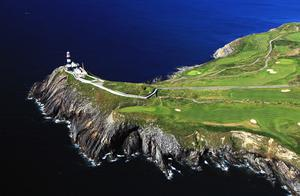An aerial view of the fourth hole and Old Head of Kinsale. Photo by David Cannon/Getty Images