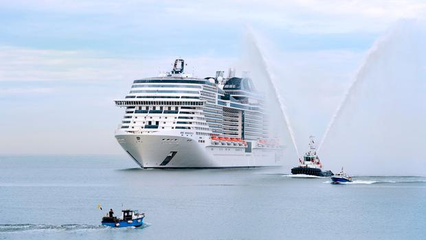 MSC Meraviglia arrives at Le Havre Port to be christened in June 2017