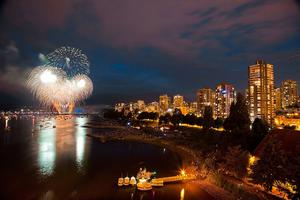 Vancouver's nighht-time fireworks. Photo: Canada Tourism Commission