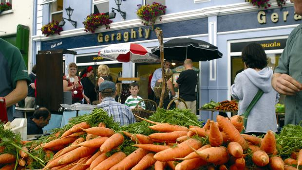 Galway's lively market. Photo: Fáilte Ireland
