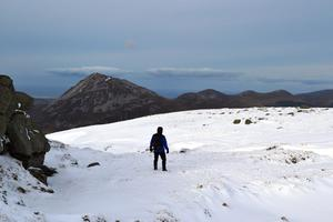 One for the experienced hiker, particularly in winter — Slieve Snaght in the Derryveagh Mountains, Co Donegal