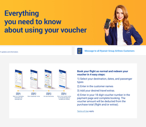 A website page Ryanair links to for customers who 'do not wish to accept this voucher option and wish to move your flight or request a refund'. Screenshot: 22.04.20
