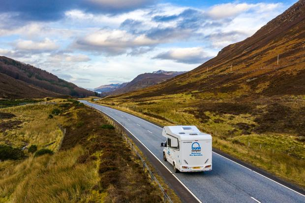A motorhome from Bunk Campers