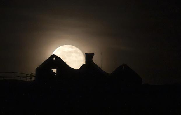 The rising moon over Inis Oírr, one of the Aran Islands, this week. Photo: Cormac Coyne