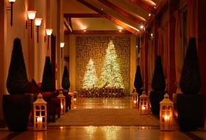 At Druids Glen, Co Wicklow, you can gather around the tree to be serenaded by carol singers