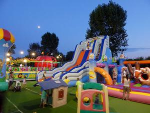The field of fun at Pra' delle Torri campsite