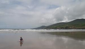 Jamie Smith on Inch beach, Co Kerry . Photo: Padraig Smith