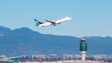 A WestJet aircraft takes off from Vancouver. Photo: Deposit