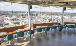 Panoramic views from the new Gravity Bar in the Guinness Storehouse in Dublin. Picture: Arthur Carron.