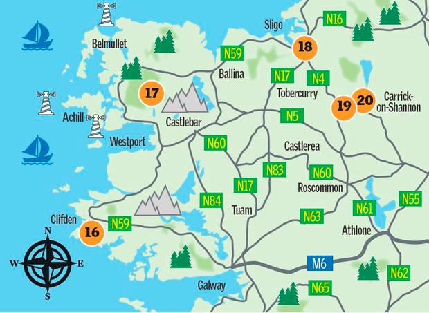 Map: The West's Winter Walks (Sunday Independent)