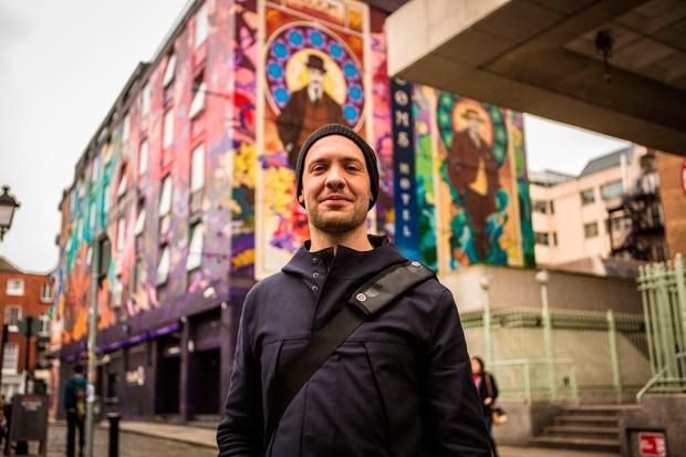 Street artist James Earley. The 2017 Shore Shots Festival takes place in Sligo. Photo: Ian Mitchinson