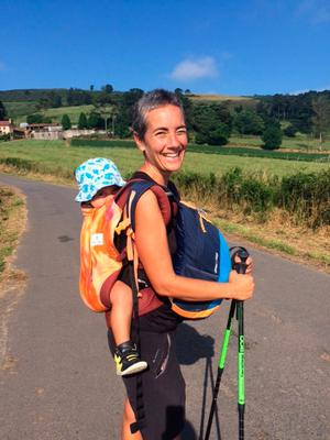 Francesca and Libero (which means 'free' in Italian) on the Camino