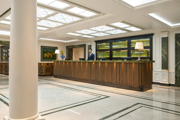 The refurbished reception area at The Shelbourne