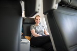 Nicola on board Turkish Airlines Business Class