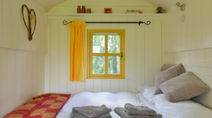 Inside one of the Shepherd's Huts at Blackstairs Eco Trails, Co Carlow
