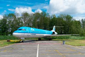 A Fokker 100 at Aviodrome aerospace museum in the Netherlands. It was the largest jet airliner built by Fokker before its bankruptcy in 1996. Photo: Deposit