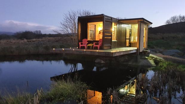 Frank the shipping container in Co Donegal