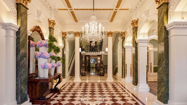 The Shelbourne's refurbished lobby