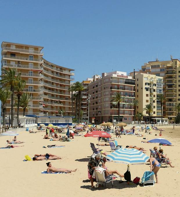 The Spanish resort of Torrevieja on the Costa Blanca